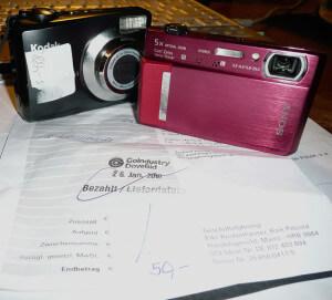 Kameras und Kaufbeleg