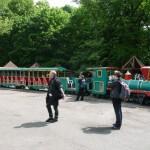 Die Spreepark Bimmelbahn ist noch funktionstüchtig