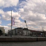 Panorama Ostseite Neuer Hafen / Marina Bremerhaven