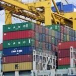 Container Schiff in Bremerhaven