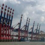 Stromkaje Bremerhaven - Blick vom Container Terminal 4