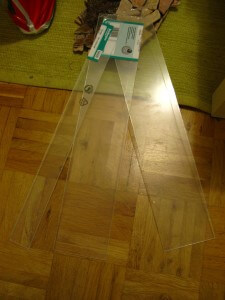 Zugeschnittenes Bastlerglas (2x 10cm + Rest (5cm)