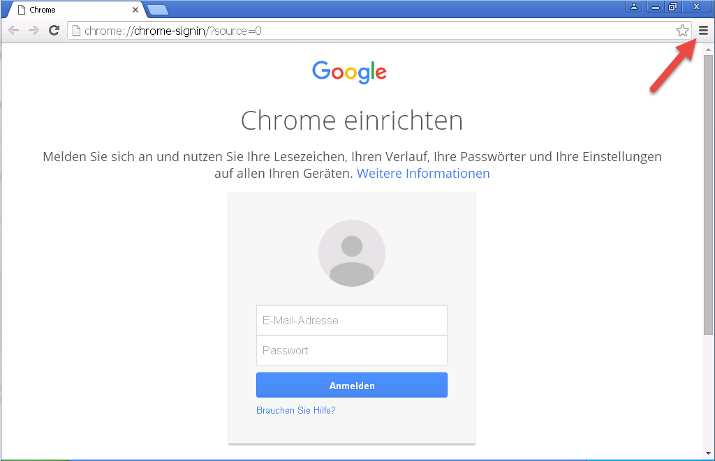 Google Chrome Einstellungen