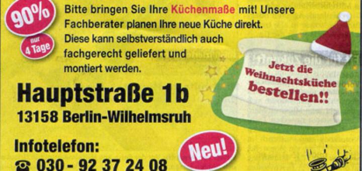 Insolvenz-Verkauf von Marken-Einbauküchen in Berlin