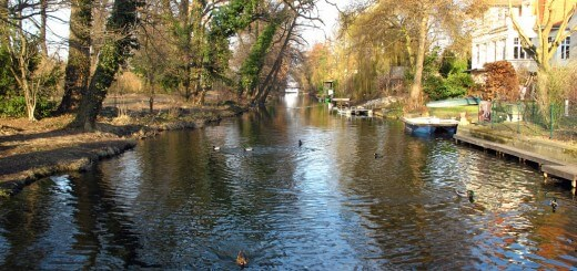Kanal an der Tizianstraße