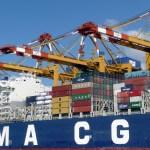 CMA CGM Container Schiff Beladung