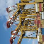 Containerbrücken bei Maersk Sealand Entladung
